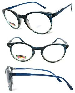 Keyhole Round Multi Focus Reading Glasses 3 Strengths in 1 Reader Colorful Frame