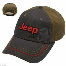NEW JEEP GRAND CHEROKEE WRANGLER WILLYS RUBICON ENZYME STONE-WASHED HAT CAP!