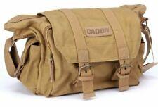 Canvas Camera Bag Shockproof Crossbody Messenger For Sony Nikon Canon SLR