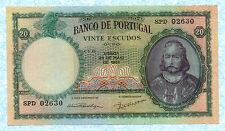 PORTUGAL 20 Escudos 1954 P153a AU