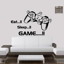 Eat Sleep Game vinyl wall art stickers,gamer xbox ps3 Bedroom Boys Girls Decal