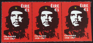 3x Che Guevara Stamps Ireland €1 Mint MNH Unmounted New