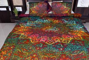 Multi Star Mandala Duvet Cover Bedding Cover Hippie Bohemian Indian Quilt Set