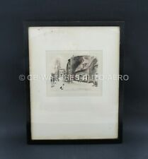 Antique Signed Etching 1901 St Bartholomew's Green, Southwold W. Fletcher Thomas