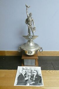 Rare Earle Greasy Neale Football Trophy with Photo (Middle Section is Missing)