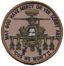 armée américaine APACHE Hélicoptère May God Have miséricorde patch brodé