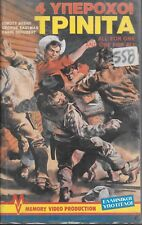The Three Musketeers of the West (GREEK PAL VHS) Rare Italian Western! Clamshell