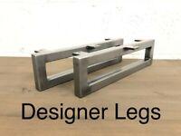 2x Cabinet legs steel industrial metal feet Made In England