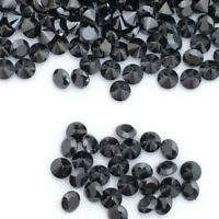 Wholesale Lot of 1m to 3mm Round Faceted Black Spinel Loose Calibrated Gemstone