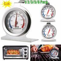 Oven Thermometer Stainless Steel Classic Stand Up Food Meat Temperature Gauge US