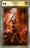 Chastity #1  Crain Hellfire Variant RARE! - CGC SS 9.8 - Signed By Clayton Crain