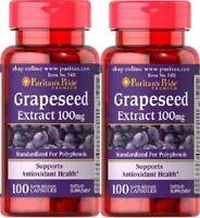 2 Semilla de Uva Extracto 100 mg 100 capsulas, antioxidante, RESVERATROL