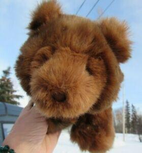 """VINTAGE TEDDY BEAR CUDDLY SOFT PLUSH ALL FOURS BROWN CUBBIE GUND TAG 12"""" CUB"""