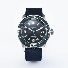 2New 45MM Corgeut Green dial Ordinary glass luminous diving automatic wristwatch