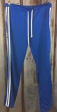 DH DEREK HEART Workout Pant Women Sz. XL Blue White Stripes Athletic Running EUC