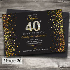Personalised Birthday Invitations | any age, 18th, 21st, 40th, 50th - Design 20