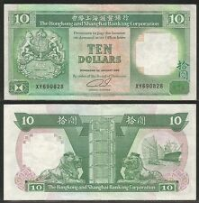 HONG KONG - 10 Dollars 1.1.1989 Pick 191c  XF