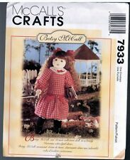 """McCalls 7933 18"""" Rag Doll & Clothes Betsy McCall Pattern Retired 1995 New Uncut"""