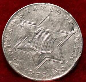 1856 Philadelphia Mint Silver Three Cent Coin