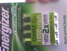 2x4 Pilas Recargables 500 mAh Energizer AAA pre-cargado NiMH-nuevo Sellado