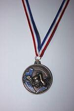 Médaille NATATION Métal Bronze avec ruban Tricolore Ø 50 mm poids 30 gr NEUF