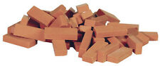 Dollhouse Miniatures Houseworks Kiln-Fired Red Bagged Common Brick, 50pc HW8204