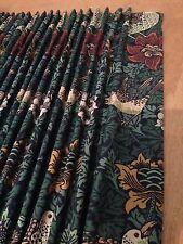 William Morris & Co Bird & Anemone DMFBI201 Hand Sewn Curtains All Cols