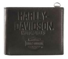 Harley-Davidson Men's Legendary Leather Bi-Fold Wallet w/ RFID HDMWA11650
