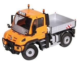 NZG910/65 - Truck Carrier Plateau Mercedes Unimog U400 Of Color Orange