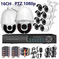18X IR PTZ 16 Ch Channel DVR 10 pcs 2 Megapixel AHD 1080P Security Camera System