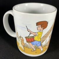 Christopher Robin Winnie The Pooh Wrap Around Photo Disney Mug Cup 12 oz EUC