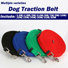 Long Dog Pet Training Obedience Lead Leash Walking Hunting Nylon Rope Belt Strap