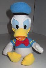 "Disney Store DONALD DUCK Plush Bean Bag Bottom Stuffed Toy Red Bow 8"" sitting"
