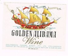 1930s South Africa Stellenbosch Golden Alabama Wine Label ship Tavern Trove