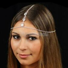 Women Rhinestone Headband Head Piece Hair band Charm Head Chain Jewelry NEW