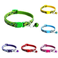 Camouflage Print Adjustable Pet Neck Strap Dog Puppy  Bell Collar Necklace