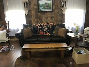 2 Uniquely Different Rustic Barn Wood Bench/coffee Table