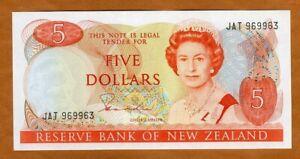 New Zealand, $5, ND (1981-1985), P-171a, QEII, UNC > UNC