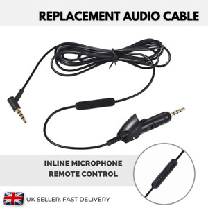 Replacement Cable Compatible with BOSE Headphones QC 15 QC15 Volume Ctrl 3.5mm