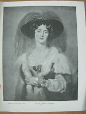 VINTAGE 1912 PRINT - PORTRAIT OF LADY PEEL By SIR THOMAS LAWRENCE