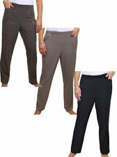 Polyester Mid Rise Regular Size Tailored Trousers for Women