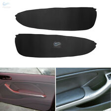 Pair Interior Front Door Armrest Panels Leather Cover for BMW 3 Series E46 98-06