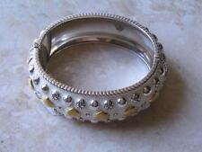 "Brighton Bracelet ""Rockin Hearts"" Lots of Golden Hearts Swarovski Crystal. NWT!"