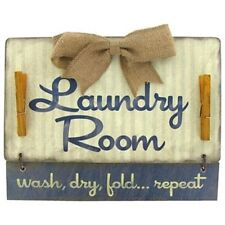 Laundry Room Wood Wall Plaque Sign Hanging Home Decor. wash,dry, fold Repeat.