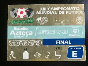 FIFA World Cup Mexico 1986 Ticket Final 29 June 1986 Argentina Germany