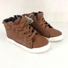 Cat & Jack Toddler Boys Cayden Mid Top Casual Sneakers Brown Zipper Size 9