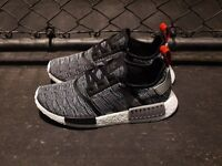 ADIDAS NMD R1 SHOES CORE BLACK GREY GLITCH CAMO BB2884 US MENS SZ 4-11