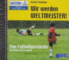 WIR WERDEN WELTMEISTER + 2 CD + Hörbuch Kinder Fußball