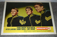 SERGEANTS 3 11x14 DEAN MARTIN/FRANK SINATRA original posed lobby card