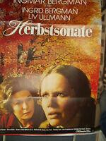 "INGRID BERGMAN - LIV ULLMANN orig. signiertes Plakat "" HERBSTSONATE """